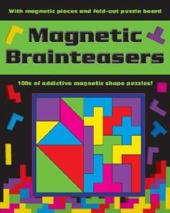 Magnetic Brainteasers with Magnetic Pieces and Fold-Out Puzzle Board