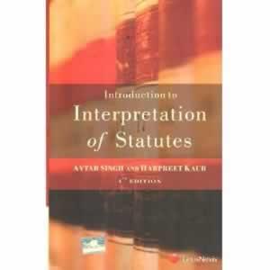 Interpretation Of Statutes Book