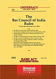 The Bar Council of India Rules under the Advocates Act, 1961