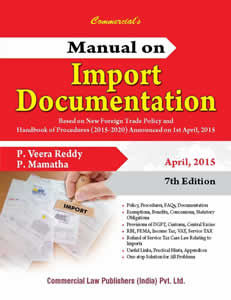 Manual on IMPORT Documentation