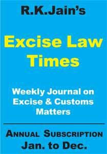 Excise Law Times (ELT) (Weekly Journal)